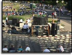 Sound Reinforcement system set up at McKinley Monument, Canton Ohio